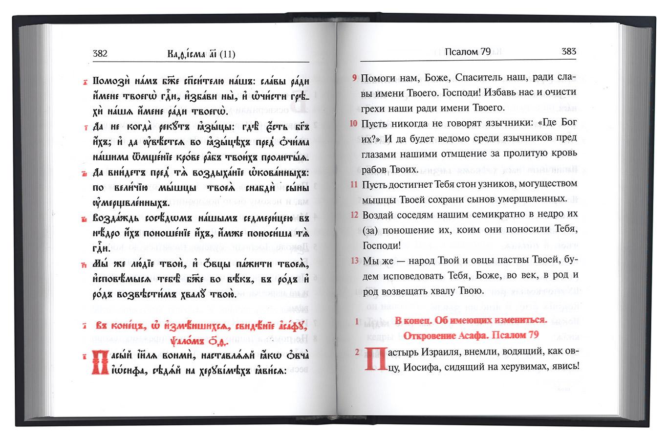 ПСАЛТЫРЬ С ПЕРЕВОДОМ НА РУССКИЙ ЯЗЫК СКАЧАТЬ БЕСПЛАТНО