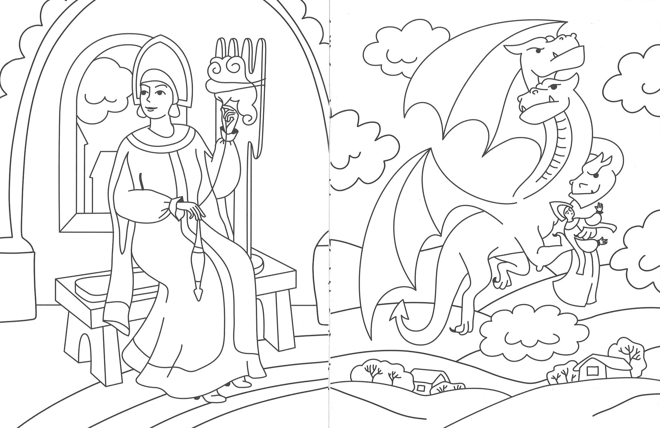 Черно белая картинка богатыря против змея горыныча